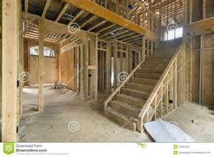 interior design for new construction homes new home construction framing foyer area royalty free