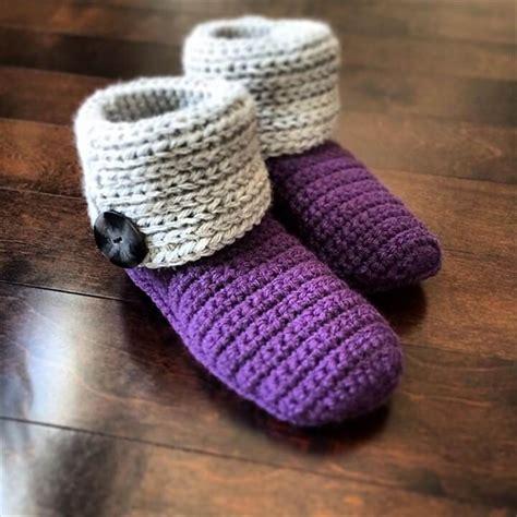 boot slippers crochet pattern 30 easy fast crochet slippers pattern diy to make