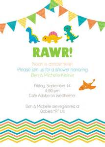 printable dinosaur baby shower invitation by southernpetite