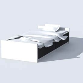 ikea odda bett ikea odda bed 3d object free artlantis objects