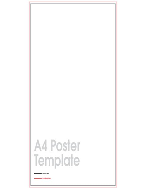 templates for a4 posters a4 poster sle free download