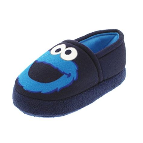 cookie monster house shoes sesame street elmo cookie monster boys girls aline slippers toddler little kid
