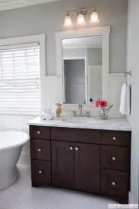 Dark Vanity In Small Bathroom Hex Tile Gray Grout Dark Vanity Bathroom Pinterest