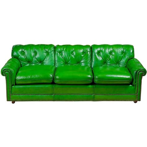 Best 25 Green Leather Sofa Ideas On Pinterest Green