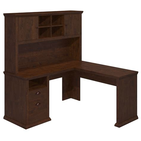 bush corner desk with hutch bush furniture yorktown corner desk with hutch reviews