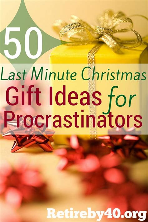 ideas for last minute holiday cards 50 last minute gift ideas for procrastinators retire by 40
