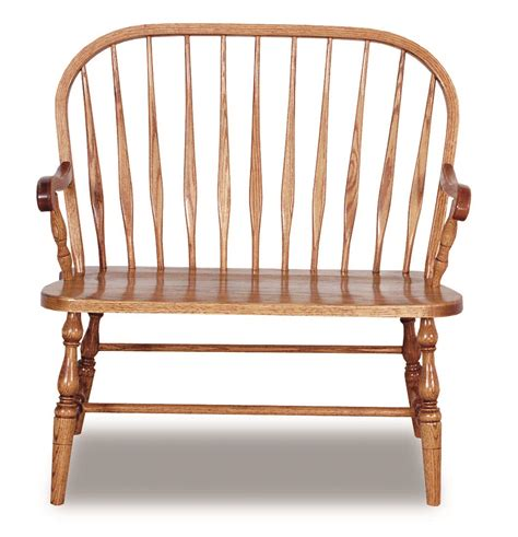 Amish Handmade Furniture - bent feather bow bench amish handmade furniture