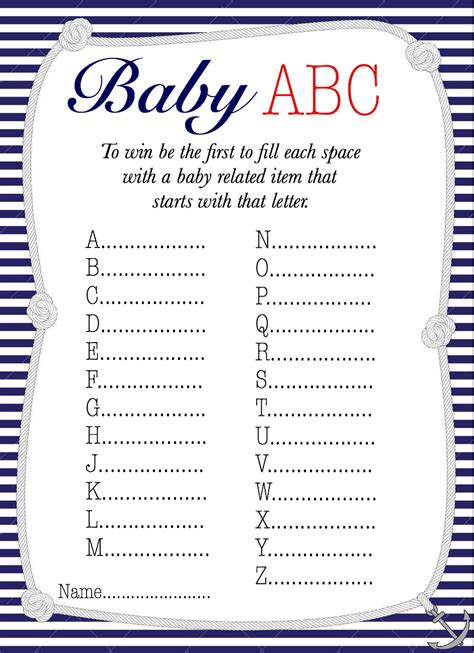 theme related names 50 free baby shower printables for a perfect party page