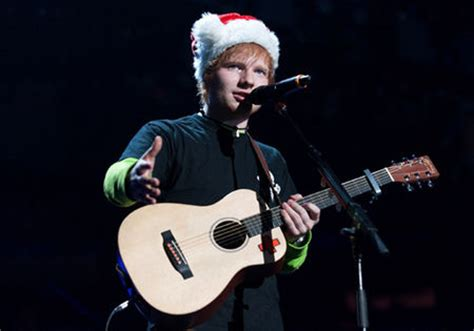 ed sheeran xmas celebs like justin bieber and one direction wearing santa