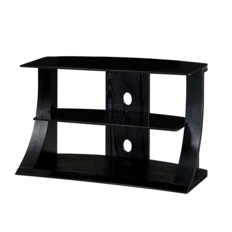 Wood Tv Shelf by Black Ash Wood Two Shelf Lcd Plasma Tv Stand 32 42 Inch