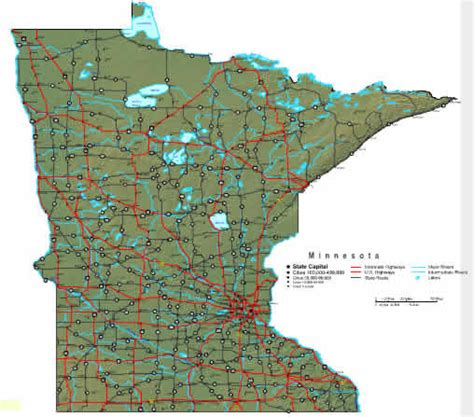 minnesota state map minnesota map maps of minnesota state