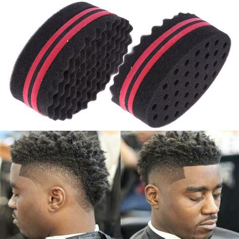 magic sponge wave barber hair brush for dreads afro locs twist curls coil tool ebay