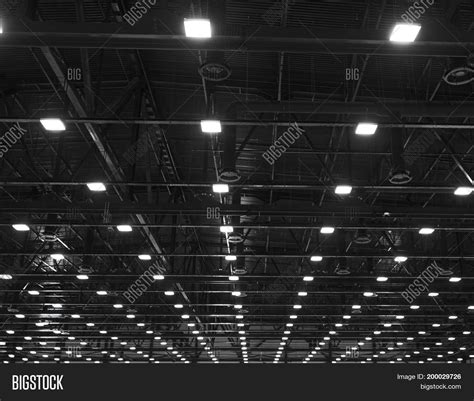 ceilings and lighting for painting exhibition hall interior lights ventilation system long line image photo bigstock