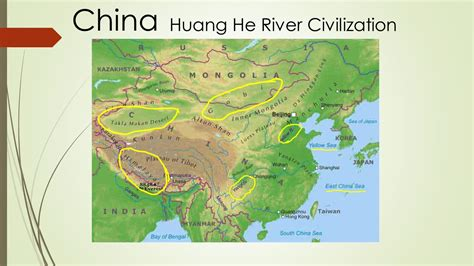 world map rivers huang he huang he river valley ancient china ppt
