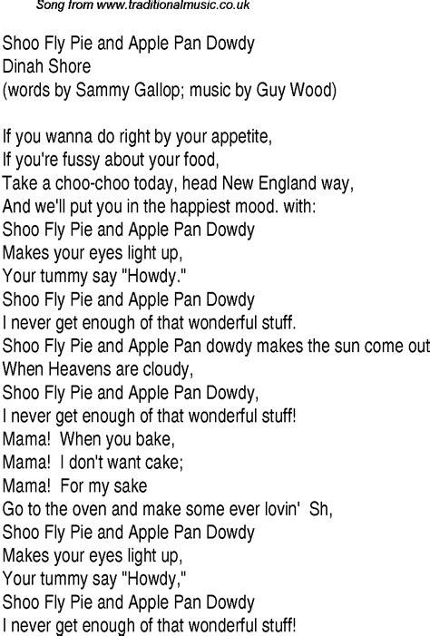 shoo and shoo fly lyrics