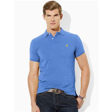 Polo Polos Custome lyst polo ralph custom fit polo in blue for