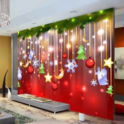 Christmas Murals For Walls aliexpress com buy christmas decoration wallpaper lovely