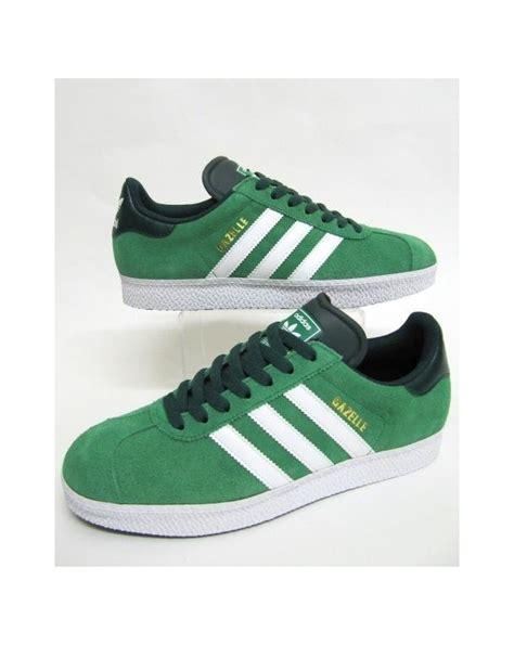 adidas gazelle 2 trainers fairway green white adidas