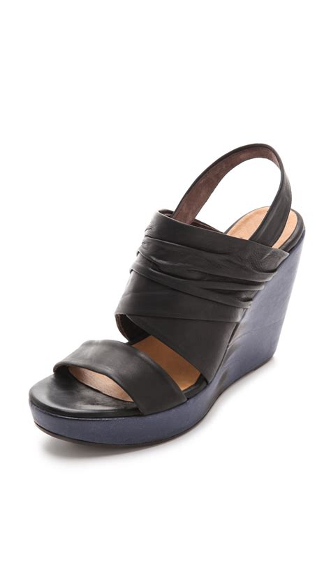 coclico sandals coclico wedge sandals in black lyst