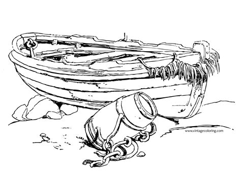 boat outline coloring page outline of a boat a free vintage coloring page