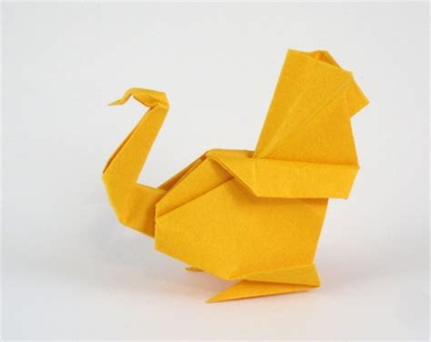 How To Make A Paper Turkey For - origami turkey kasahara cool 3d cool origami easy