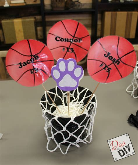 basketball themed decorations host a basketball theme