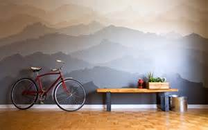 Mountain Wall Mural Before And After Mountain Range Paint Idea Mural The Snug
