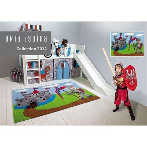 chambre enfant chevalier tapis enfant chevalier multicolore arte espina tapis