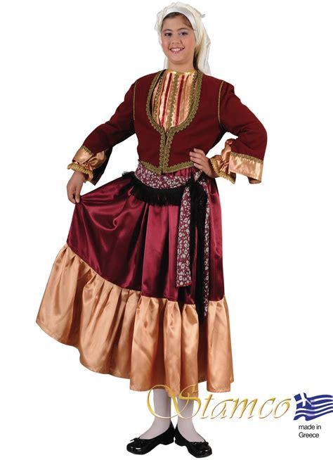 greek traditional costumes aegean island girl www