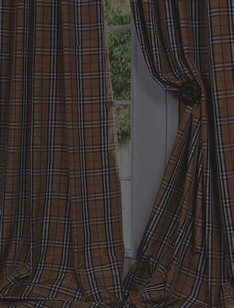 plaid silk drapes bogart silk taffeta plaid custom curtains drapes half