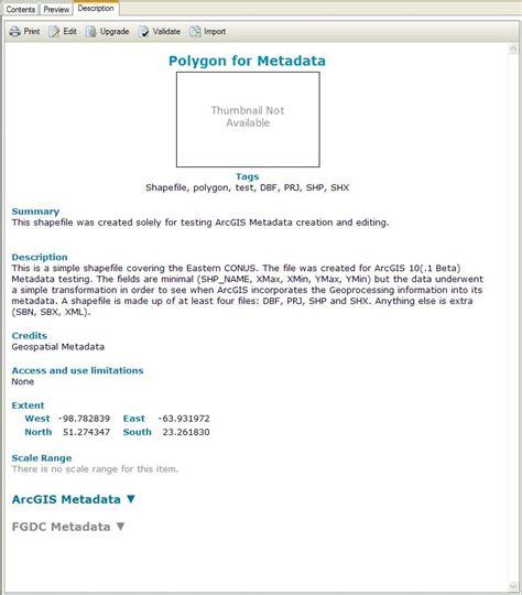 arcgis metadata tutorial famous esri templates photos resume ideas namanasa com