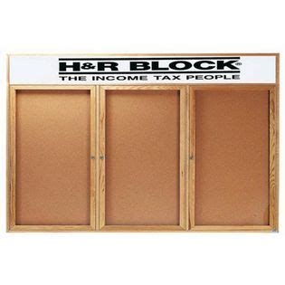 Aarco Obc4896 3rh 3 Door Enclosed Bulletin Board With
