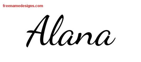 alana archives free name designs