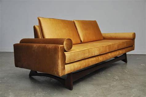 gold velvet sofa adrian pearsall gondola sofa in gold velvet for sale at