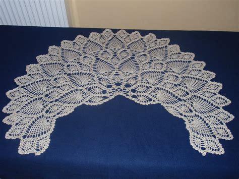 Crochet Shawl Pattern Crochet Wrap With Pineapple Motif pineapple crochet shawl patterns images