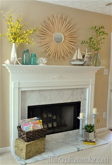 beach inspired summer mantel