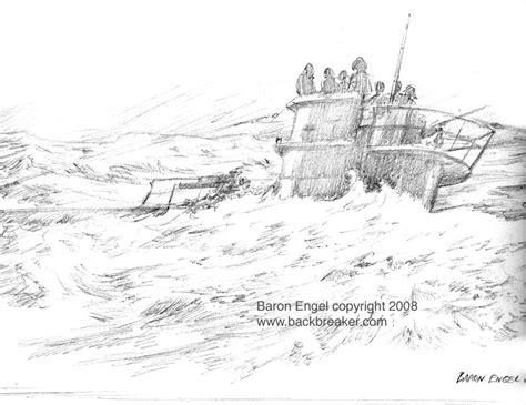 U Boat Drawing by U Boat At Sea Study By Baron Engel On Deviantart
