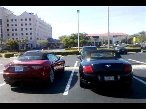 maserati grancabrio and bentley continental gtc