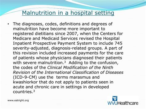 icd 9 protein malnutrition ppt coding for malnutrition a success story powerpoint
