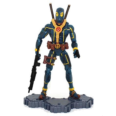 Marvel Legend Deadpool Blue Suit Series 1 deadpool figure blue and yellow suit x comics collectible 6 inches marvtoys