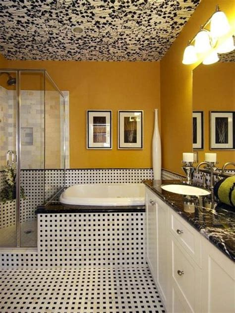 how to use dark color for unique ceiling designs