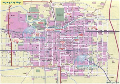 city map detailed anyang city map map of anyang city in henan province