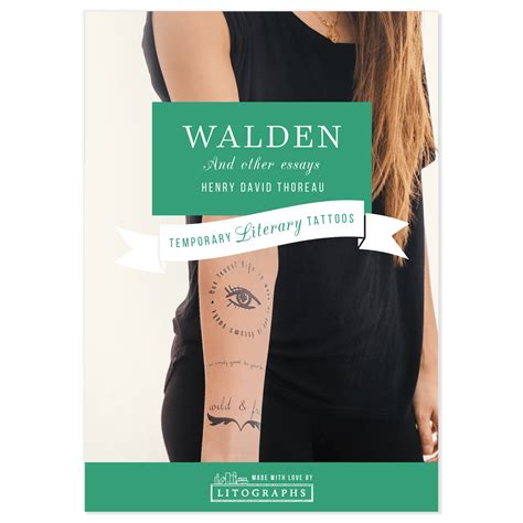 walden book poster litographs walden book