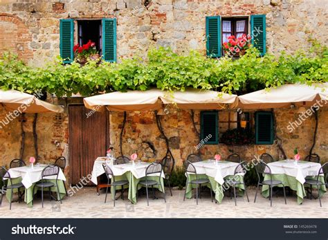 outside cafe table and chairs cafe tables chairs outside quaint stock photo