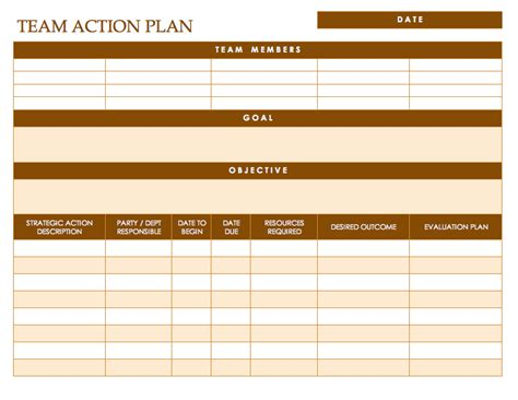 team plan template free plan templates smartsheet