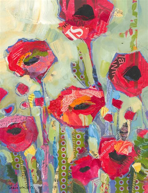 acrylic painting etsy poppies flowers original painting