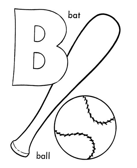 The Letter B Coloring Page letter b coloring pages printable coloring home