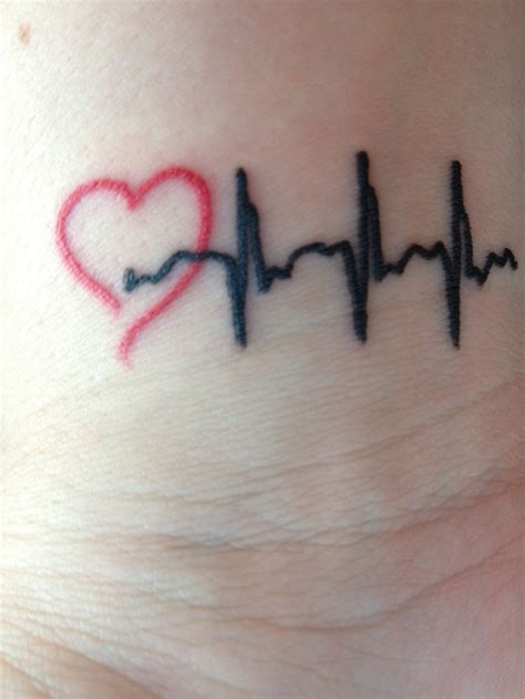 open heart design tattoo my wrist my was born with a defect which