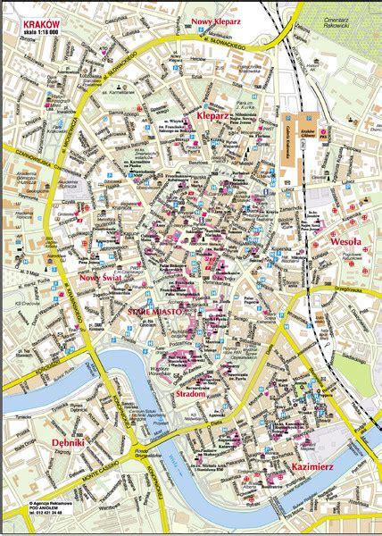 krakow city centre krakow city center map krakow poland mappery