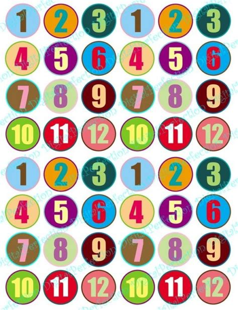printable numbers on circles 17 best images about number labels on pinterest calendar